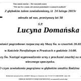 Ś.P. Lucyna Domańska 24.02.2015 Złotoryja Prusice