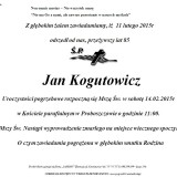 Ś.P. Jan Kogutowicz 11.02.2015r Złotoryja Proboszczów