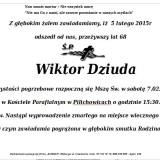 Ś.P. Wiktor Dziuda 5.02.2015r Lwówek Śląski Pilichowice