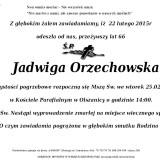 Ś.P. Jadwiga Orzechowska 22.02.2015r Złotoryja Olszanica
