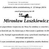 Ś.P. Mirosław Laszkiewicz 22.02.2015r Lwówek Śląski Marczów