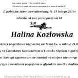 Ś.P. Halina Kozłowska 18.02.2015r Lwówek Śląski