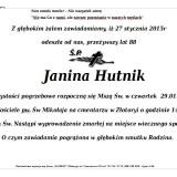Ś.P. Janina Hutnik 27.01.2015 Złotoryja