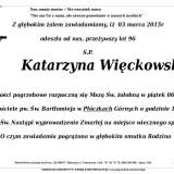 Ś.P. Katarzyna Więckowska 3.05.2015 Lwówek Śląski, Płóczki Górne