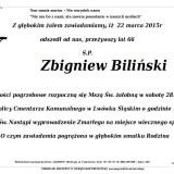 Ś.P. Zbigniew Biliński 22.03.2015 Lwówek Śląski