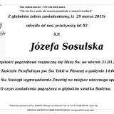 Ś.P. Józefa Sosulska 29.03.2015 Lwówek Śląski, Pławna
