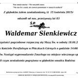 Ś.P. Waldemar Sienkiewicz 15.04.2015 Lwówek Śląski, Płóczki