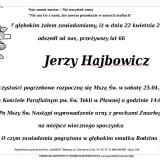 Ś.P. Jerzy Hajbowicz 22.04.2015 Lwówek Śląski, Pławna