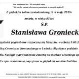 Ś.P. Stanisława Groniecka 6.05.2015 Lwówek Śląski