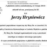 Ś.P. Jerzy Hryniewicz 11.05.2015 Lwówek Śląski