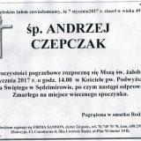 Ś.P. Andrzej Czepczak 07.01.2017. Złotoryja, Sędzimirów