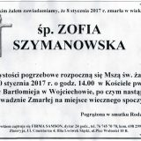 Ś.P. Zofia Szymanowska 08.01.2017. Lwówek Śląski, Wojciechów