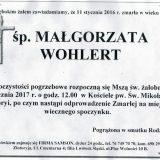 Ś.P. Małgorzata Wohlert 14.01.2017r. Złotoryja