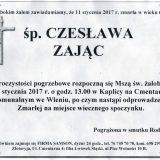 Ś.P. Czesława Zając 11.01.2017. Lwówek Śląski, Wleń