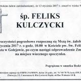 Ś.P. Feliks Kulczycki 13.01.2017. Lwówek Śląski, Golejów