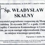 Ś.P. Władysław Skalny 23.01.2017r. Lwówek Śląski