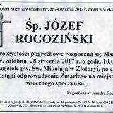 Ś.P. Józef Rogoziński 14.01.2017r. Złotoryja