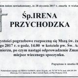 Ś.P. Irena Przychodzka 28.01.2017r Lwówek Śląski, Lubomierz