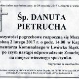 Ś.P. Danuta Pietrucha 29.01.2017r. Lwówek Śląski