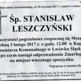 Ś.P. Stanisław Leszczyński 28.01.2017r. Lwówek Śląski