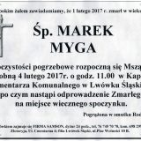 Ś.P. Marek Myga 01.02.2017r. Lwówek Śląski