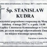 Ś.P. Stanisław Kudra  01.02.2017r. Lwówek Śląski