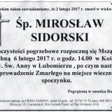 Ś.P. Mirosław Sidorski 02.02.2017r. Lwówek Śląski, Lubomierz
