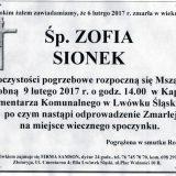 Ś.P. Zofia Sionek 06.02.2017r. Lwówek Śląski