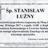Ś.P. Stanisław Łużny 16.02.2017r. Lwówek Śląski
