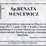 Ś.P. Renata Wencewicz 17.02.2017r. Lwówek Śląski