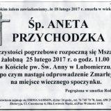 Ś.P. Aneta Przychodzka 18.02.2017r. Lwówek Śląski, Lubomierz