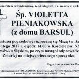 Ś.P. Violetta Pieniakowska  24.02.2017r. Lwówek Śląski