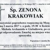 Ś.P. Zenona Krakowiak 26.02.2017 r. Lwówek Śląski, Giebułtów