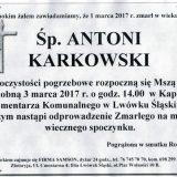 Ś.P. Antoni Karkowski 01.03.2017r. Lwówek Śląski
