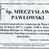 Ś.P. Mieczysław Pawłowski 20.03.2017r. Lwówek Śląski, Wleń