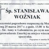 Ś.P. Stanisława Woźniak 23.03.2017r. Lwówek Śląski, Lubomierz