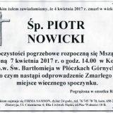 Ś.P. Piotr Nowicki 04.04.2017r. Lwówek Śląski, Płóczki Górne