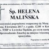 Ś.P. Helena Malińska 05.04.2017r. Lwówek Śląski