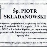 Ś.P. Piotr Składanowski 31.03.2017r. Lwówek Śląski