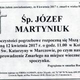 Ś.P. Józef Martyniuk 08.04.2017r. Lwówek Śląski, Marczów