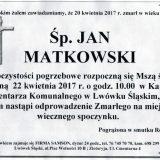 Ś.P. Jan Matkowski 20.04.2017r. Lwówek Śląski