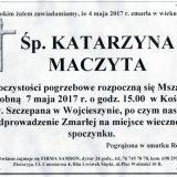Ś.P. Katarzyna Maczyta 04.05.2017. Złotoryja, Wojcieszyn
