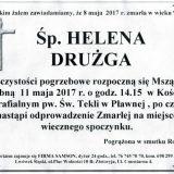 Ś.P. Helena Drużga 08.05.2017r. Lwówek Śląski, Pławna