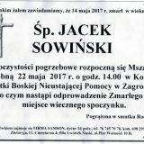 Ś.P. Jacek Sowiński 14.05.2017r. Złotoryja, Zagrodno