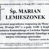 Ś.P. Marian Lemieszonek 28.05.2017r. Lwówek Śląski