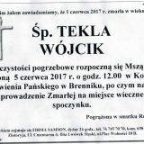 Ś.P. Tekla Wójcik 01.06.2017r. Złotoryja, Brennik