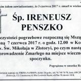 Ś.P. Ireneusz Penszko 03.06.2017r. Złotoryja,