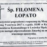 Ś.P. Filomena Łopato 07.06.2017r. Lwówek Śląski