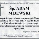Ś.P. Adam Mijewski 09.06.2017r. Lwówek Śląski, Sobota