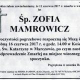 Ś.P. Zofia Mamrowicz 11.06.2017r. Lwówek Śląski, Marczów